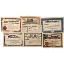 WA - Spokane,1900 - Washington Mining Stock Certificates - Fenske Collection