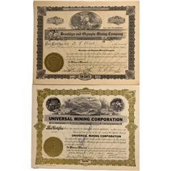 WA - Yakima,Yakima County - 1928, 1956 - Washington Mining Stock Certificate - Fenske Collection