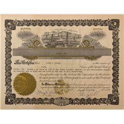 WY - 1973 - Bickel, Inc. Oil Stock Certificate - Fenske Collection