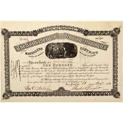 Republic of Mexico, Magdalena,State of Sonora - 1883 - North Mexican Mining and Milling Co. Stock -