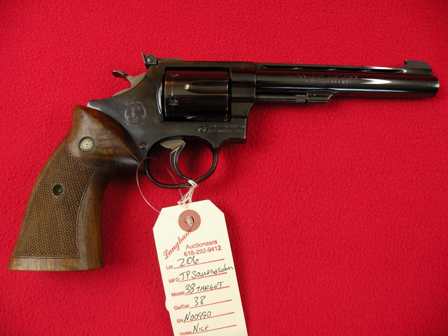 J P  Sauer and Sohn 38 cal Target Model Revolver