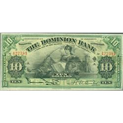 1925 Dominion Bank $10