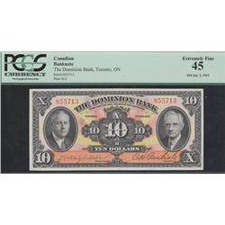 1935 Dominion Bank $10