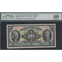 1938 Dominion Bank $10