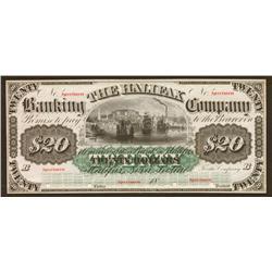 18__ The Halifax Banking Company $20 Specimen
