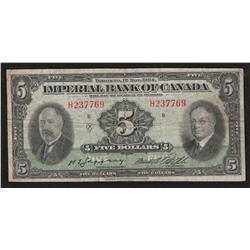 1934 Imperial Bank of Canada $5