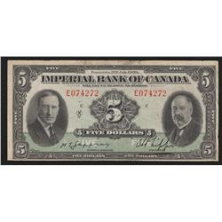 1939 Imperial Bank of Canada $5