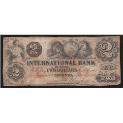 1858 International Bank of Canada $2