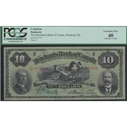1916 Merchants Bank of Canada $10