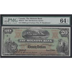 1904 Molsons Bank $20