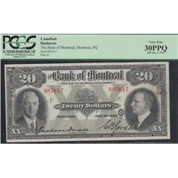 1931 Bank of Montreal $20