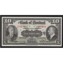 1938 Bank of Montreal $10
