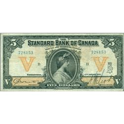 1919 Standard Bank of Canada $5