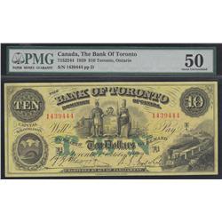 1929 Bank of Toronto $10