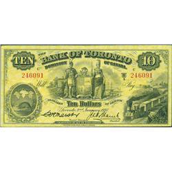 1937 Bank of Toronto $10