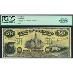 1920 Bank of Toronto $50
