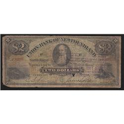 1882 Union Bank of Newfoundland $2