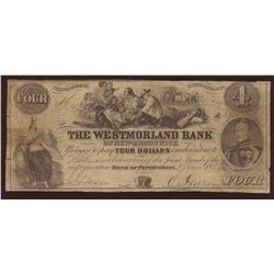 1854 Westmorland Bank of New Brunswick $4