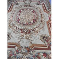 Aubusson design handmade floral rug