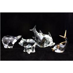 4 crystal animals