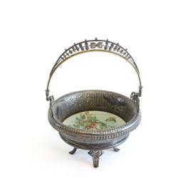 Victorian silverplate basket