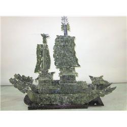 Chinese jade ship