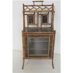 Bamboo cabinet with paint decoration