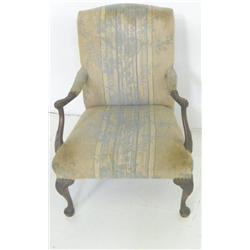 Queen Anne style open arm chair ca. 1920's