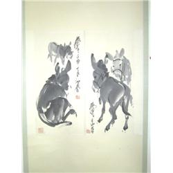 "Chinese scroll of ""Donkeys"""