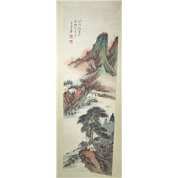 Chinese scroll of Landscape