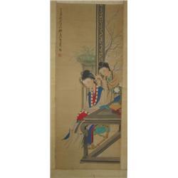Chinese scroll of Women