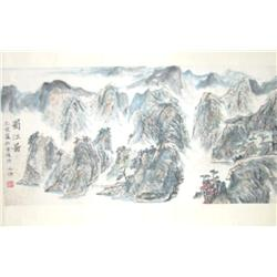 "Chinese scroll of ""Mountain Landscape"""