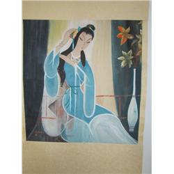 Chinese scroll artist signed