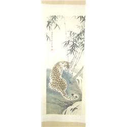 Chinese scroll  artist signed Liu Kui Ling