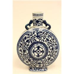 Blue & white vase with Qing Long mark
