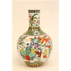 19th c Chinese handpainted porcelain vase