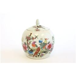 Early 20th c. Chinese covered ginger jar