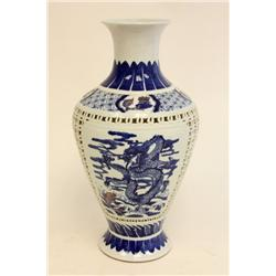 Early 20th c. Chinese handpainted vase
