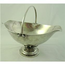 Hand hammered silver basket
