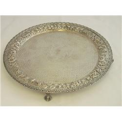 Sterling silver claw foot tray