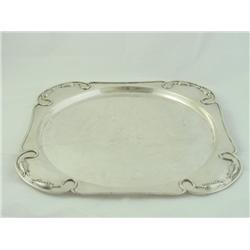 "Sterling tray with ""Dragonfly"" design"