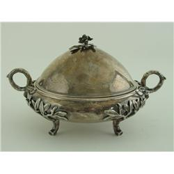Gorham sterling covered butter dish