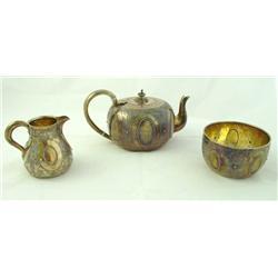 3 piece Victorian English tea set