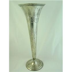 Large sterling silver Tiffany style vase