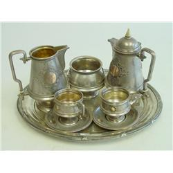Early 20th c. Russian silver 6 piece tea set
