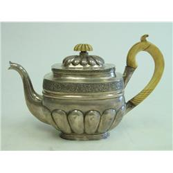 19th c. Russian silver teapot