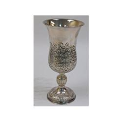 Sterling silver ornate goblet