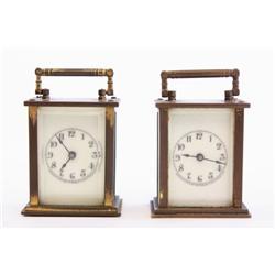 Lot 2 miniature carriage clocks original case