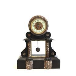 Open escapement mantle clock