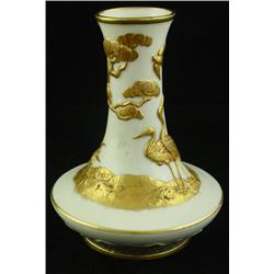 Royal Worcester vase in the Asian taste